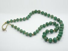 "ANTIQUE CHINESE EXPORT GRADUATED JADE BEAD NECKLACE ~ 22"" / 73 g"