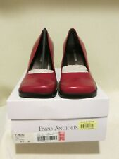 NIB Enzo Angiolini Mauna Square Toe Red Heels in Size 6.5M