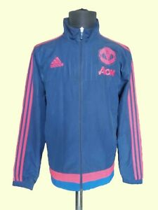 Adidas Manchester United Tracksuit Football Jacket Soccer Zip Vintage SzM