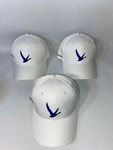 3 New White Grey Goose Golf hats