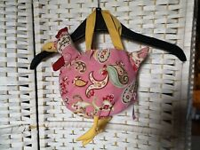 Joules Pink Floral Chicken Bag WITH ATTACHED Egg Shaped Coin Purse Child's 🐣