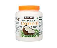 1 Kirkland Organic Virgin Coconut Oil Unrefined Cold Pressed Chemical Free 84oz