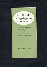 1956 Pamphlet - List of Museums in Copenhagen.