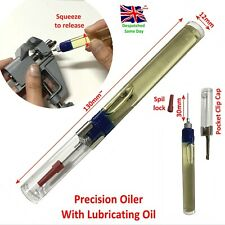 Precision Oil Pen Needle Oiler For Watches Hobby Lubrication Pocket Clip