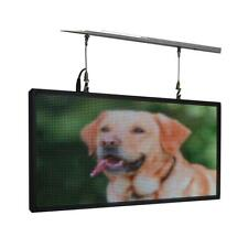 """27""""x 14"""" Full Color Programmable Window LED Sign Display Images Animations Text"""
