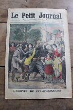 Petit journal illustré N°1284 1915 Arrivée permissionnaire Soldats Allemands
