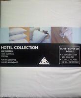 HOTEL QUALITY WHITE  EGYPTIAN COTTON 200 T/C DOUBLE SIZE DUVET SET