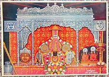 "SHRI badari Nath Ji 13.5""x 9.5"" 1950s Indien Hindu Götter Vintage Print"