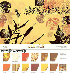 Homestead Collection Pack 12X12 Scrapbook Kit Autumn Fall Family 24 Sheets NEW
