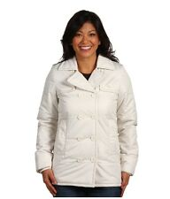 Lacoste Quilted Pea Coat w/ Fleece Lining Size 8 (EUR 40) Color Mother Of Pearl
