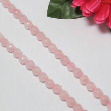 2 Fil Quartz Rose 8mm Ronde facettes Perles