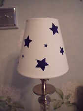 Handmade Candle Clip Lampshade Emma Bridgewater Starry Skies Blue fabric