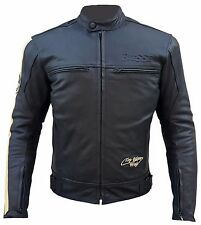 BI ESSE - GIACCA GIUBBINO MOTO IN VERA PELLE -  LEATHER 100%