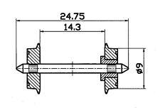 + + 10 trozo nuevo con embalaje original Roco 40071 h0 neumáticos de tracción 14,7-16,5 mm