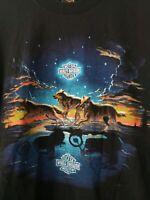 Harley Davidson UHL 1995 Black Wolves Vibrant Shirt XL
