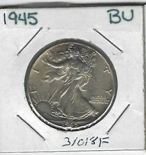 1945 Walking Liberty Half Dollar, Gem BU #31018F