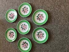 7 Syracuse China Greenbrier hotel rhododendron pink Railroad dessert Plate
