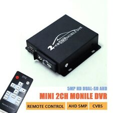 2CH AHD 5MP Mini Mobile DVR Real-time HD1080P SD DVR support 128GB/CVBS/AHD