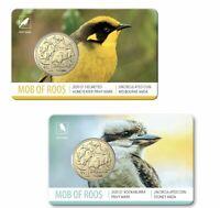 2020 ANDA $1 Sydney Kookaburra and Melbourne Honeyeater Coins