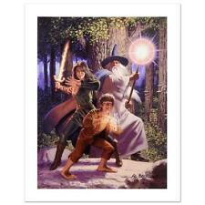 "Lord of the Rings ""Arwen Joins The Quest"" Greg Hildebrandt  Ltd Canvas Tolkien"