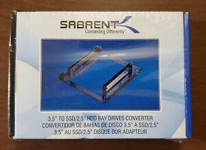 "SABRENT 2.5"" SSD & SATA Hard Drive to Desktop 3.5"" Bay Bracket - BRAND NEW"