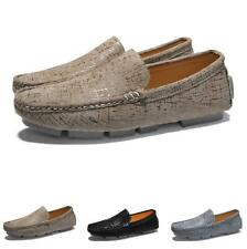 Men's Leisure Faux Leather Shoes Driving Moccasins Slip on Loafers Breathable L