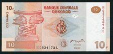 Congo DR 10 francs 2003.06.30. Apui-Tete Chef Luba Carving P93 G&D Print UNC