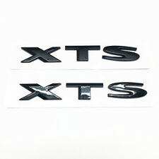 Fit GM Cadillac XTS Trunk Lid XTS Emblems Badges Nameplate 2pcs New Glossy Black