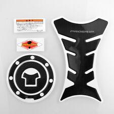 Progrip Carbon Fiber Tank Pad Protector + Gas Cap For Honda CBR250R F3 F4 F4i