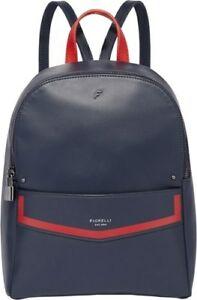 Fiorelli Womens Trenton Backpack Nshade Red, Faux Leather In Navy Blue/Red -NEW