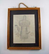 "ORIGINAL ~ 1982 HANK ORR AND MOSI ""1880 NORTHERN CHEYENNE WOMAN"" DRAWING ~ 15X12"
