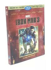 Iron Man 3 in 3D (Blu-ray 3D+Blu-ray+DVD+Digital+Music) NEW with RARE Slipcover