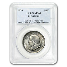 New listing 1936 Cleveland/Great Lakes Half Dollar Ms-64 Pcgs - Sku #51469