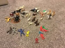 VINTAGE Big Lot of 51 Assorted Plastic COWBOYS & INDIANS and HORSES WITH RIDERS
