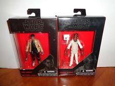 """Lot of 2 Star Wars The Black Series 3.75"""" Finn and Admiral Ackbar Action Figures"""