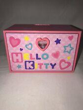 Hello Kitty Pink Wood Jewelry Box Hearts And Stars