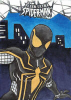2017 Fleer Ultra Spider-Man Black Suit Marvel Brent Ragland 1/1 Sketch Card