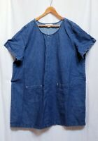Placements Womens Size 26/28 Denim With Pockets Shift Dress