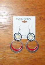 Black White Fun Cute Earrings Beautiful Rainbow Nickle Free Silver Red