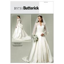 Butterick Pattern B5731 / Bp249 Kate Middleton Style Wedding Dresses Sz 14-20