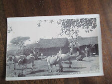 NATIVE HUTS DINAPORE.  OLD RP POSTCARD.