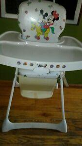 Vintage Graco Disney babies Metal High Chair Padded Viny