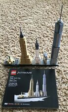 LEGO Architecture 21028 NEW YORK CITY 598pc SET Complete w/Instructions no box