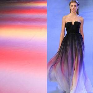Gradual color imitated silk fabric changing shade 100d chiffon fabric BY YARD