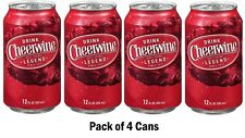 CHEERWINE Soft Drink Soda - Lot of 4 - 12oz Cans - FRESH! 4 Pack