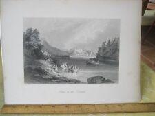Vintage Print,GRAIN ON DANUBE,Engraving,WH.Bartlett,Turkey+Greace