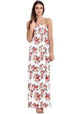 Womens Sheering Boobtube Bandeau Maxi Dress Long Jersey Strapless Maxi