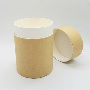 30 pcs x Kraft cardboard cylinder container soap, coffee, tea -size 120ml
