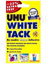 UHU WHITE TACK 33% FREE/BOSTIK BLUE TACK  Packet Re-usable Adhesive Putty UK P&P