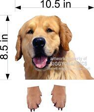 """10.5"""" Golden Retriever Dog Vinyl Peeker Decal Sticker For Car Window"""